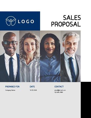 Friendly sales proposal template