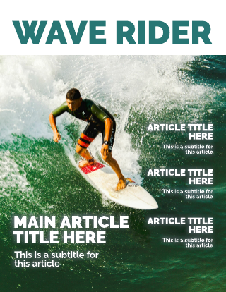 Surf Magazine Cover Template