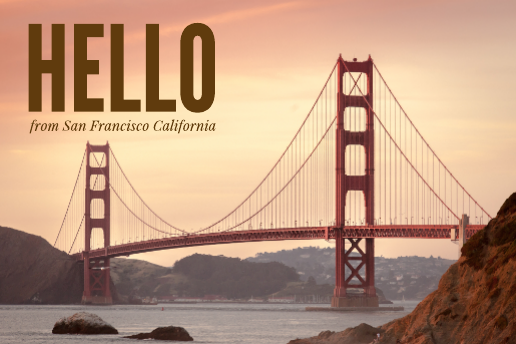 San Francisco Travel Postcard Template