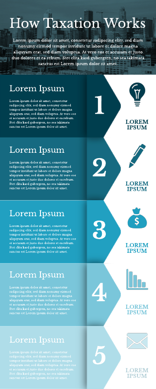 How taxation works infographic template