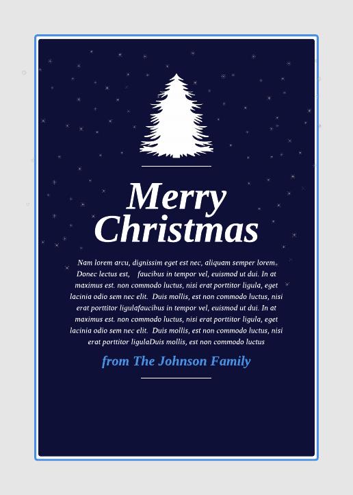 Modern Christmas Card  (5x7)