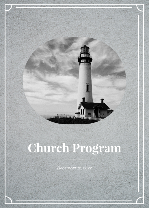 Grayscale Church Program Template