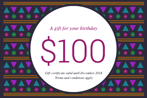 Patterned Birthday Gift Certificate Template
