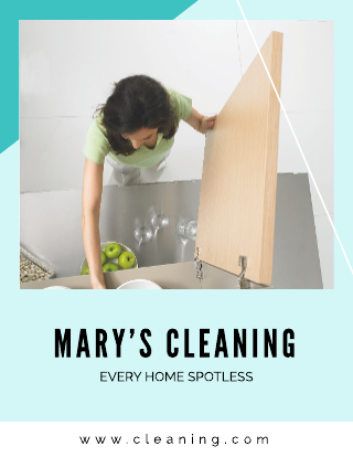 Double-Sided Cleaning Flyer Template