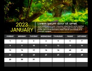 2022 Nature Calendar Monthly Template