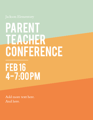 Parent Teacher Conference Flyer Template