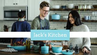 Blue and White Kitchen Youtube Thumbnail Template